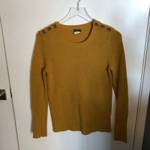 Jcrew crewneck sweater with button detail